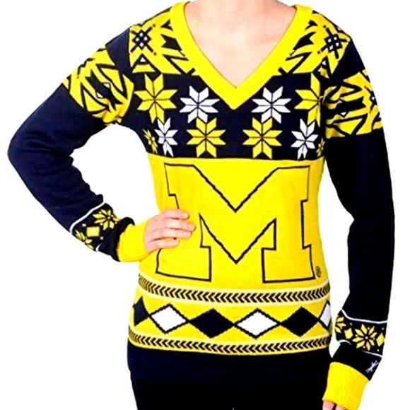 3167174b84931 MICHIGAN WOLVERINES Ugly Christmas Sweater